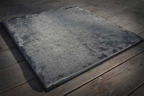 Fireproof Mats - deck protect pit pad n rack combo 24x24in dp3002