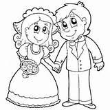 Coloring Bride Groom Surfnetkids Heart Royal sketch template