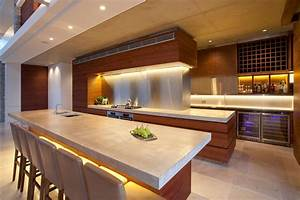 12 unique modern contemporary gourmet kitchens homes of With cuisine de luxe moderne