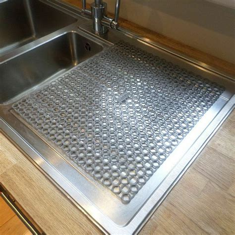 kitchen sink mats with drain sink or kitchen worktop washing up glasses cup mug drainer