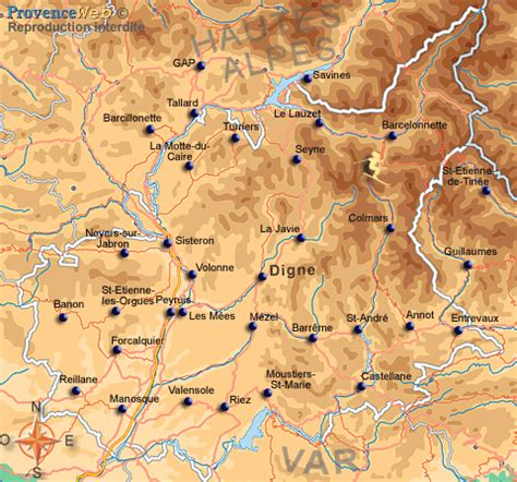 chambres d hotes verdon provence carte des alpes de haute provence provence web