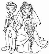 Groom Bride Coloring Pages Wedding Stamps Draw Digi Colouring Couple Couples Hang Room Modern Drawing Printable Cute Line Cartoon Drawings sketch template