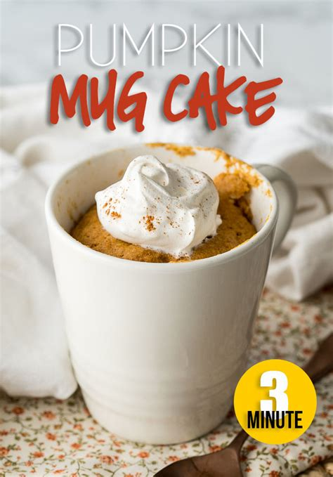 pumpkin mug cake recipe  wash  dry