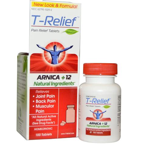 MediNatura, T- Relief, Pain Relief Tablets, 100 Tablets na ...