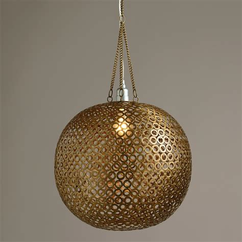 brass disc hanging pendant l world market
