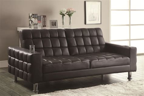 Futon Loveseats by Coaster Sofa Beds And Futons Adjustable Sofa Bed With Cup