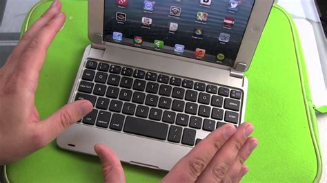 tmart  aluminium ipad mini keyboard case review youtube