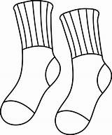 Socks Clip Pair Outline Sweetclipart sketch template