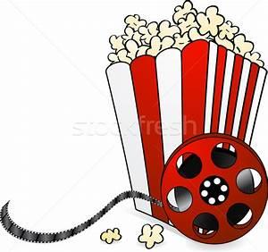 Popcorn and film reel vector illustration © Elaine Barker ...