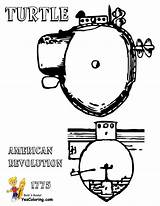 Submarine Coloring Turtle Yescoloring Uss Boss Navy 1776 sketch template