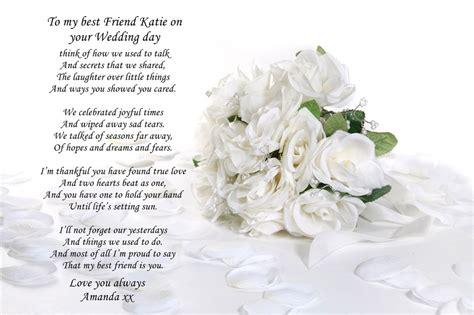 personalised poem  sister   friend  wedding day