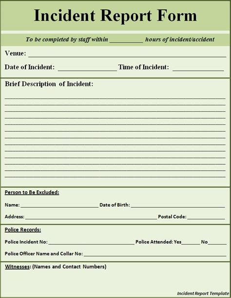 business incident report apcc