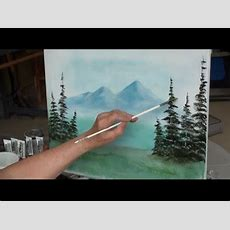 "Painting With Yovette, ""how To Paint Evergreen Trees"" Pt 1"