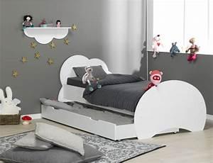 Lit enfant blanc altea avec matelas et sommier for Nettoyage tapis avec canapé avec tiroir lit