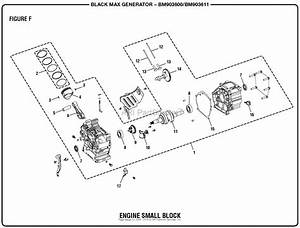 Homelite Bm903600  Bm903611 Generator Mfg  No  090930291  090930293 Parts Diagram For Figure F