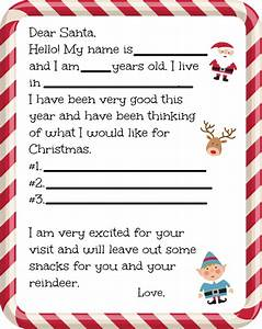 free printable santa letter With letter back from santa
