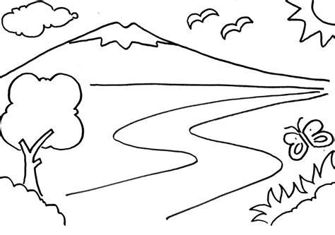 gunung contoh gambar pemandangan infotiket