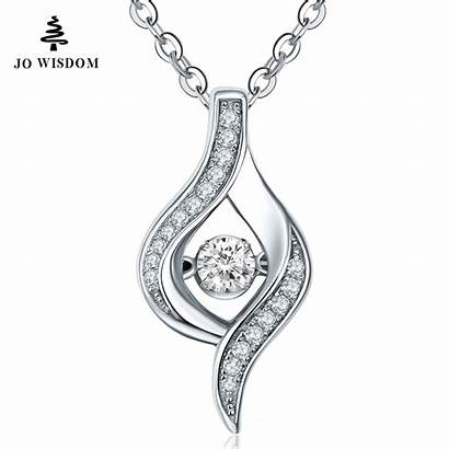 Pendant Silver Necklace Diamond Necklaces Dancing Jewelry