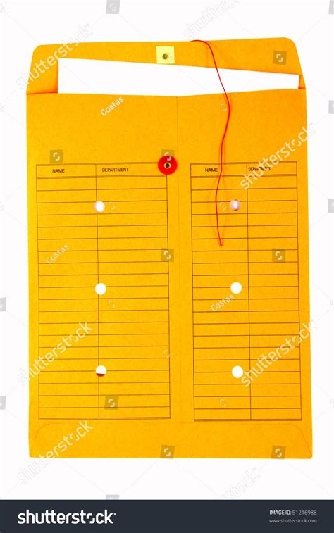 Interoffice Envelope Template Cover by Yellow Interoffice Envelope Stock Photo 51216988