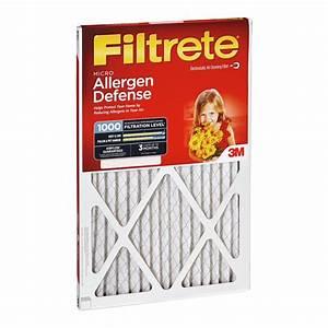 Filtrete Chart 24x30x1 Filtrete 1000 Micro Allergen Air Filter By 3m