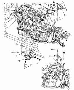 2005 Dodge Grand Caravan Mount  Front  U0026 Rear Transmission