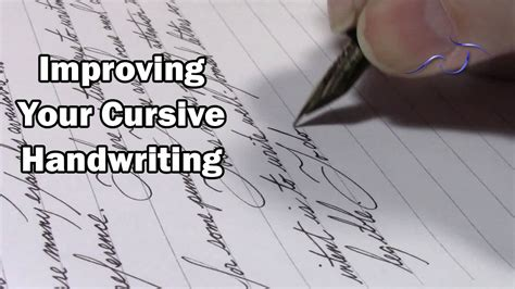 Improving Your Cursive Handwriting Youtube