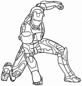 Beautiful Ironman Coloring Pages To Print For Iron Man