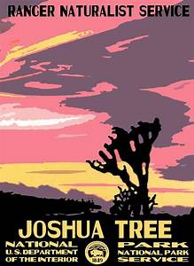 Joshua Tree National Park Vintage Poster Photograph by