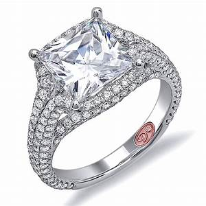 Diamantbilds jewelry with high quality for Princess cut pink diamond wedding rings