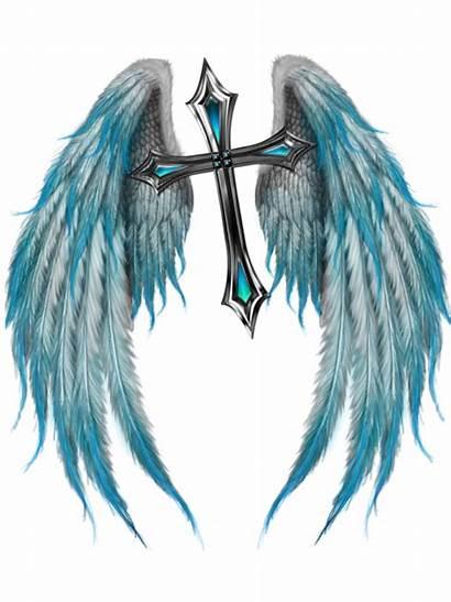 Wings Tattoos Angel Cross Tattoo Drawing Designs