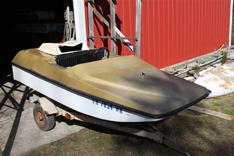 Snowmobile Engine In Mini Jet Boat by Fiberglassics 174 Alsport Caper Mini Jet Boat