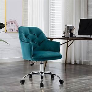 Office, Chair, Velvet, Swivel, Shell, Chair, Adjustable, Lift, Seat, For, Living, Room, Modern, Leisure, Arm