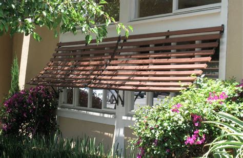 custom  slatted window awnings mobile home exteriors house exterior