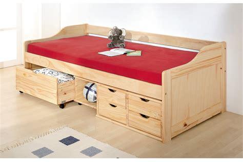 lit banquette enfant en pin massif max 90x200 meubles de