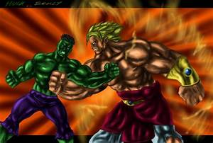 Hulk vs. Brolly by joshdancato on DeviantArt