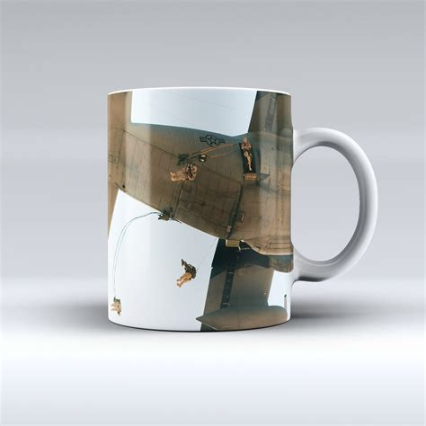 With clear text and vibrant colors. Army Airborne Coffee Mug   Honor Duty Valor