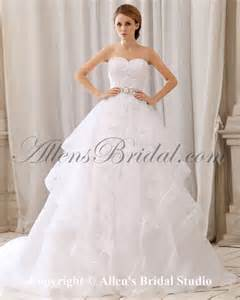 court wedding dress allens bridal organza and lace sweetheart court gown wedding dress