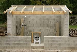 Construire Un Abri De Jardin En Parpaing : charpente une pente sur parpaing ~ Melissatoandfro.com Idées de Décoration