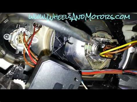 how to replace headlight bulb on audi a6 c6 4f dipped