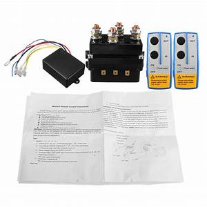 12v 500amp Hd Electric Capstan Contactor Winch Control Solenoid Twin Wireless Remote Recovery 4