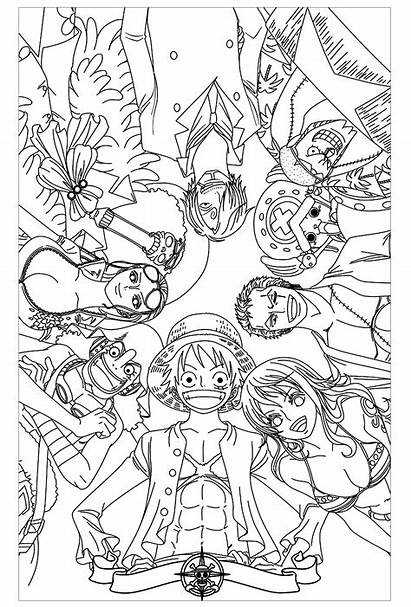 Piece Coloring Pages Anime Children
