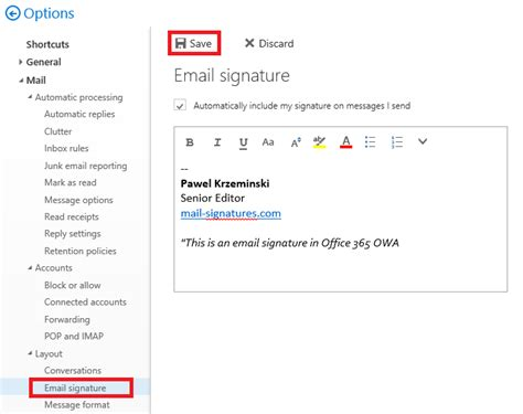 how to add signatures in outlook 365 howsto co