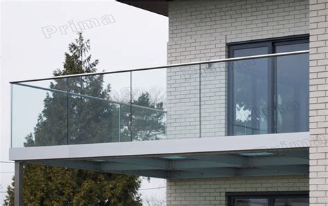 balcony firm glass balustrade with aluminum channel