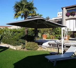 Parasol Grande Taille : parasol d cor d 39 honfleur parasol mat excentr rectangulaire avec lambrequin ~ Melissatoandfro.com Idées de Décoration