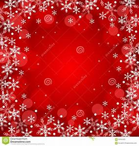 Red Christmas Snow Background Stock Vector - Image: 62942422
