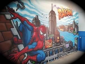 CHAMBRE GRAFFITI SPIDERMAN Blog De Decorationgraffiti