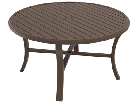 outdoor dining table with umbrella hole tropitone banchetto aluminum 54 round dining table with