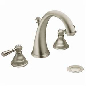 kingsley brushed nickel two handle high arc bathroom