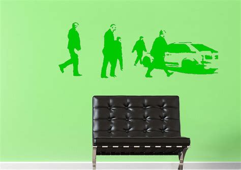 target car banksy wall stickers adhesive wall sticker
