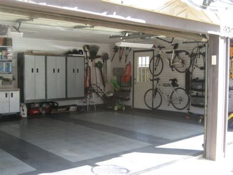 Cabinets Floating Off The Floor Organized Smart Garage, A